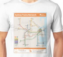 Sydney Train Map Unisex T-Shirt