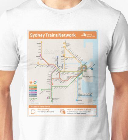Sydney Train Map Unisex T-Shirt