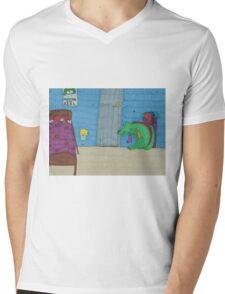 "The dogolosaurus monster [""Monsters are real.""] Mens V-Neck T-Shirt"