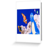 Aquarium with clown fish and friends Greeting Card