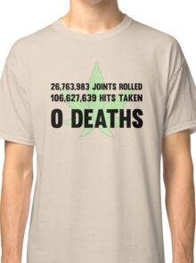 Legalize Weed Cool Funny Smoking Joint Stats Classic T-Shirt