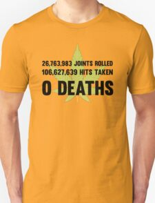 Legalize Weed Cool Funny Smoking Joint Stats Unisex T-Shirt