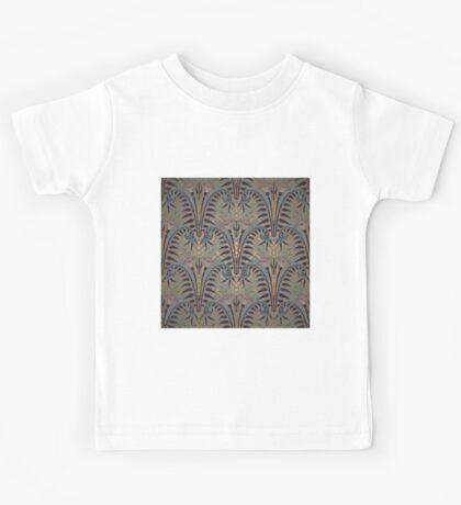 Genuine,original,art deco,art nouveau,wall paper, pattern Kids Tee