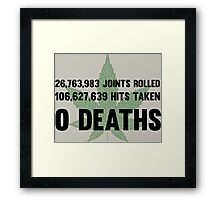 Legalize Weed Cool Funny Smoking Joint Stats Framed Print