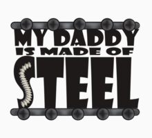 My Daddy Is Made Of Steel - Scoliosis Awareness One Piece - Short Sleeve