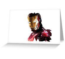 Iron Man Triangulation Vector Greeting Card