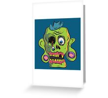Zombie Skull Greeting Card