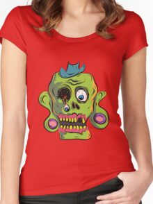 Zombie Skull Women's Fitted Scoop T-Shirt