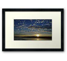 San Juan Island Sunset Framed Print