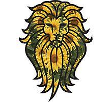 Sunflower Lion Photographic Print