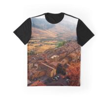 View over Sperlinga, Sicily Graphic T-Shirt