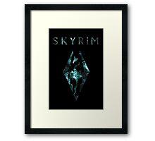 Skyrim Minimalist Nebula Design Framed Print