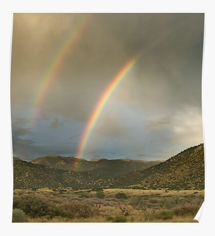 Double Rainbow over Sandias Poster