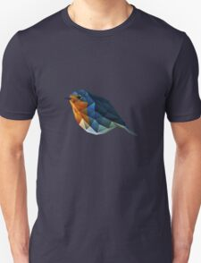 Low Poly Robin Unisex T-Shirt