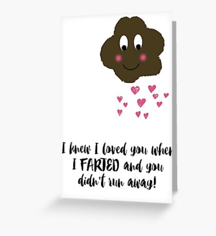 True Love and Farts Greeting Card