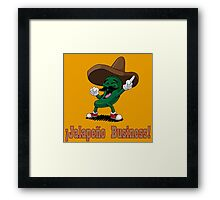 Why are Peppers so Nosey?? Framed Print