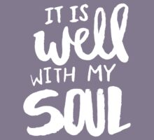 It Is Well With My Soul x Navy Kids Tee