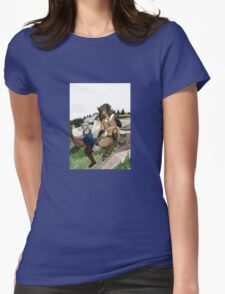 Frolicking Together Womens Fitted T-Shirt