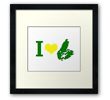 I Heart Cape Breton Framed Print