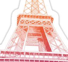 Colorful Eiffel Tower Paris France Sticker