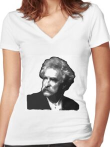 Mark Twain Women's Fitted V-Neck T-Shirt