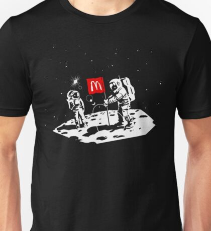 First we take Manhattan, Then we take Moon Unisex T-Shirt