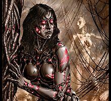 Cyberpunk Painting 032 by Ian Sokoliwski
