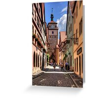 White Tower Rothenburg Greeting Card