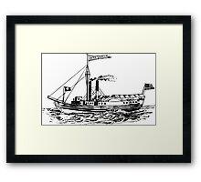 Steamship Framed Print