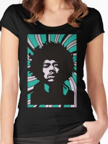 Jimi Hendrix Women's Fitted Scoop T-Shirt