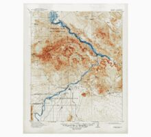 USGS TOPO Map Arizona AZ Parker 314875 1911 125000 Kids Tee