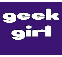 Geek Girl - Women's Black T-Shirt Photographic Print
