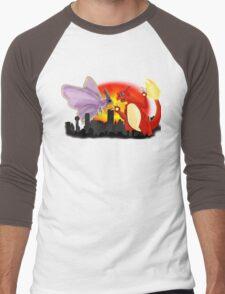 Venomothra Vs. Charzilla Men's Baseball ¾ T-Shirt