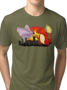 Venomothra Vs. Charzilla Tri-blend T-Shirt