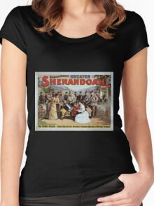 Performing Arts Posters Bronson Howards greater Shenandoah 1008 Women's Fitted Scoop T-Shirt