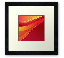 Cherry Orange and Lemon Lollipop Swirl Framed Print