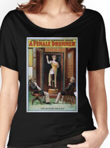Performing Arts Posters Chas E Blaneys big extravaganza success A female drummer 2001 Women's Relaxed Fit T-Shirt