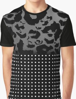 Digital Chrome Leopard Print and Polka Dots Graphic T-Shirt