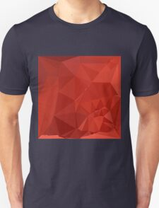 American Rose Red Abstract Low Polygon Background Unisex T-Shirt