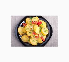 Top view on a stew of potatoes with onion and bell pepper Unisex T-Shirt