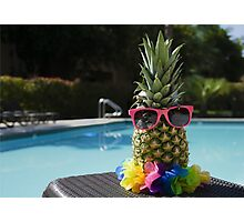 Pineapple by the pool Photographic Print