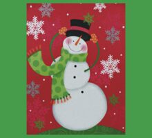 Happy Snowman One Piece - Short Sleeve