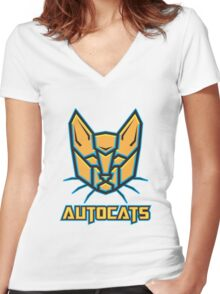 Autocats V2 Women's Fitted V-Neck T-Shirt