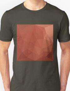 Burnt Sienna Orange Abstract Low Polygon Background Unisex T-Shirt