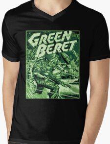 GreenBeret 8Bit Mens V-Neck T-Shirt