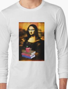 student mona lisa - funny collage Long Sleeve T-Shirt