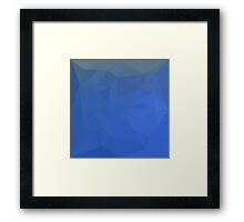 Deep Sky Blue Abstract Low Polygon Background Framed Print