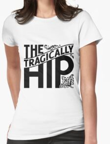 THE TRAGICALLY HIP LOGO BLACK Womens Fitted T-Shirt
