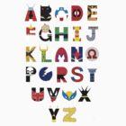 marvel superhero alphabet by Audrey Metcalf