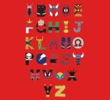 marvel superhero alphabet Kids Clothes